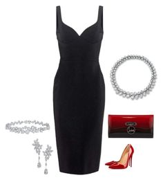 """""""Untitled #653"""" by ladyspartan ❤ liked on Polyvore featuring Victoria Beckham, Christian Louboutin and Harry Winston"""
