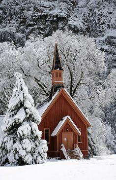 Been here in the summer ... it is georgeous!  Yosemite Chapel