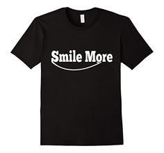 Men's smile word, smile gift, smile more t shirts for men Medium Black - Brought to you by Avarsha.com