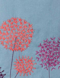 A free hand embroidery pattern