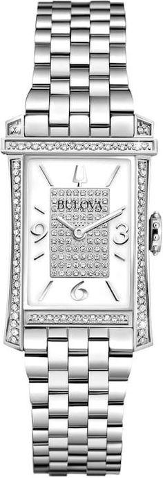 Bulova Women s Sterling Silver Diamond Quartz Watch