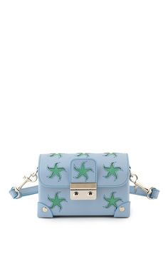 Holly Fulton X Petek 1855 Blue & Green Small Wiggle Trunk Bag by HOLLY FULTON (=)