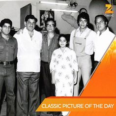 Here's a rare picture of Ashim Samanta, Anand Bakshi, R.D. Burman, Mithun Chakraborty and Shakti Samanta