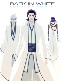Black in white. Gin Ichimaru, Sosuke Aizen, and Tosen Kaname