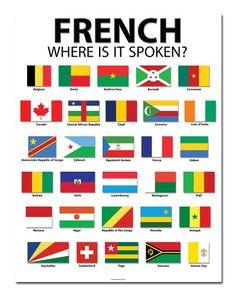 "French Speaking Countries - 20"" x 26"" - Classroom Poster Bestonium http://www.amazon.com/dp/B00HJAWBK6/ref=cm_sw_r_pi_dp_0K5cub111CBC5"