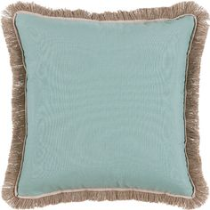 Surf with Sand Flange & Outdoor Fringe Outdoor Pillow