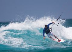 I use the kite just to get me to the waves really. Thiago Fonseca