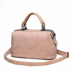 Fashion Brand Vintage Boston Doctor Handbags Women PU Leather Shoulder  Messenger Shopping Tote Bag Bolsas Sac A Main Mujer ea74145e2bab2