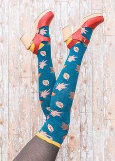 Powder Designer Bamboo Ankle Socks LEAF design Ladies womens Girls Gift Bag Inc