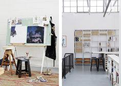 Studio Sisu art studio -photographed by Sean Fennessy
