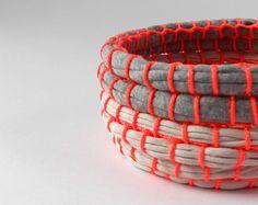 cómo hacer cestos con trapillo #DIY #crafts