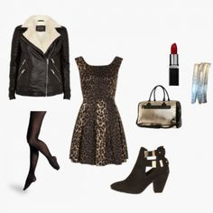 Leather and leopard print for a girls night out. Create more style for WiShi users at www.wishi.me