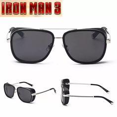 IRON MAN 3 Matsuda TONY Steampunk Sunglasses Men Mirrored Designer Brand Glasses Vintage Sun glasses | Lazada Malaysia