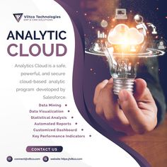 Analytics Cloud is a safe, powerful, and secure cloud-based analytic program developed by Salesforce. It has been optimized for mobile access and data visualization, designed to bring true BI (Business Intelligence) to everyone involved in the business, ranging from service providers and sales representatives to marketing managers and others involved in the business cycle. Analytics Cloud is greatly helping businesses to process and report data findings efficiently, increase collaboration. Bi Business Intelligence, Crm System, Cloud Based, Data Visualization, Collaboration, Perfume Bottles, Clouds, Technology, Marketing