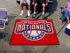 Large Washington Nationals Logo Area Rug
