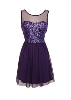 Sleeveless sweetheart dress with mesh yoke and button back closure. Sequin bodice and tulle skirt. Elasticized waistline for comfortable fit. Fully lined.