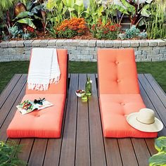 Build a mini deck for lounging