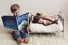 Newborn twins with sibling. www.jacquelinephotography.net
