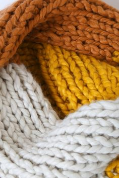 Stay as cozy as can be in the Lulus Snuggle Up Mustard Yellow Multi Colorblock Scarf! Oversized scarf composed of soft chunky knit with a colorblock design. Mellow Yellow, Mustard Yellow, Knitted Blankets, Merino Wool Blanket, Whatever Forever, Yellow Clothes, Rust Color, Summer Colors, Knitting Designs