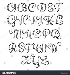 Hand Drawn Calligraphic Font Your Design Stock Vector 378709624 - Shutterstock