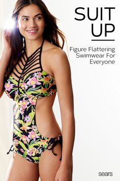 b390dd4a1faac Suit up with swimwear from Sears! Get designer looks with this juniors   floral-