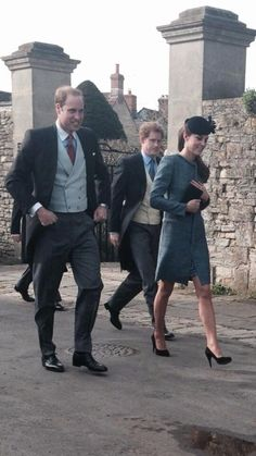 William, Kate & Harry attending a wedding - March 29