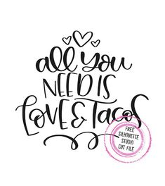 Free Silhouette Design: Love and Tacos