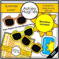 FREE Summer Lovin' (Graphics/Clipart for Commercial Use)