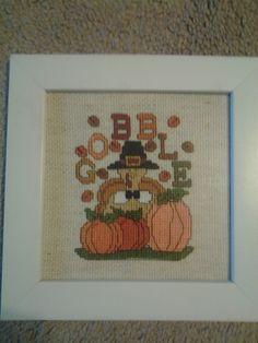 Gobble Turkey Pumpkins 7X7