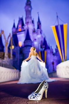 Magic Kingdom Disney Wedding Portraits: Cierra + Mark