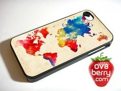 Abstract World Map iPhone and Samsung Galaxy Phone Case