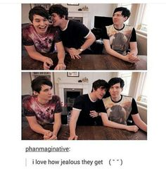 phil is like: wot you doin to my boyfren and dan is like: pj get your fucking…