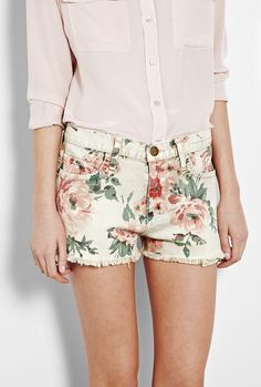 CURRENT/ELLIOTT Floral shorts