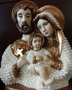 Sagrada Família 30 Cm Com Pérolas