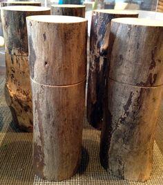 Wood branch pepper mill