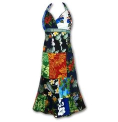 Dharma Patchwork Halter Dress