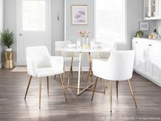 White Dining Chairs, Modern Dining Chairs, Dining Chair Set, Velvet Dining Chair, Dining Area, White Dining Set, Contemporary Dining Room Sets, Comfortable Dining Chairs, Dinning Table