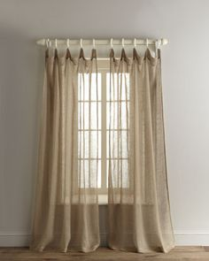 Loosely Woven Sheer Linen Curtains At Horchow.