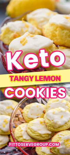 Zesty, tangy keto lemon cookies are lemony keto goodness. If you are a fan of all things lemon these low carb lemon cookies are sure to please. It's a cakey cookie made with coconut flour so they are not only keto-friendly but nut-free too Keto Foods, Keto Snacks, Paleo Diet, Low Carb Sweets, Low Carb Desserts, Low Carb Recipes, Cooking Recipes, Dip Recipes, Delicious Recipes