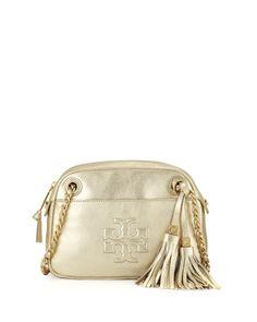 Thea Pebbled Crossbody Bag, Light Gold at CUSP.
