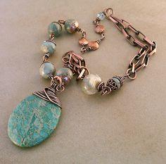 aqua terra jasper necklace 014, via Flickr.