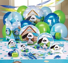 Playful Puppy Blue 1st Party Supplies