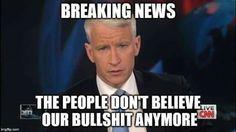 Mainstream Media Bullshit (it's not just Fox anymore! Propaganda for the rich, elite, establishment! Bernie Sanders, Cnn Live, Media Bias, Out Of Touch, Mainstream Media, Thats The Way, News Media, Fake News, Way Of Life