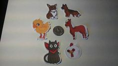 Animals in video games and anime stickers