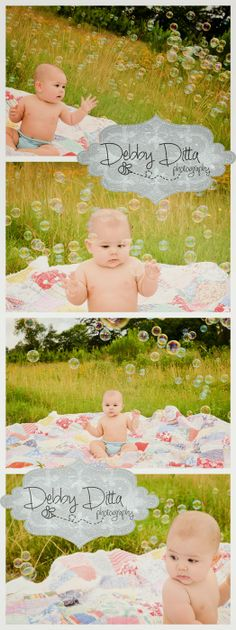 Debby Ditta Photography: Baby boy in the grass field playing with bubbles. Tomball, Houston, Spring, the Woodlands, Cypress, Magnolia child and baby photographer Debby Ditta Photography: