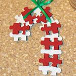 Puzzle Candy Cane Ornament