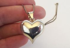 A personal favorite from my Etsy shop https://www.etsy.com/listing/230584386/vintage-925-sterling-silver-puffy-heart