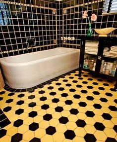 Yellow And Black Bathroom Ideas yellow bathroom on pinterest yellow