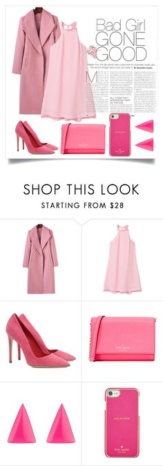 """""""Pink 💜"""" by harrariz ❤ liked on Polyvore featuring MANGO, Dee Keller, Kate Spade and Alexis Bittar"""