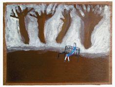 Widow 1994 (by Andrew Litten) acrylic on wood